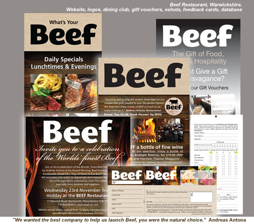 Beef Restaurant Website by Leisure Marketing Midlands LTD