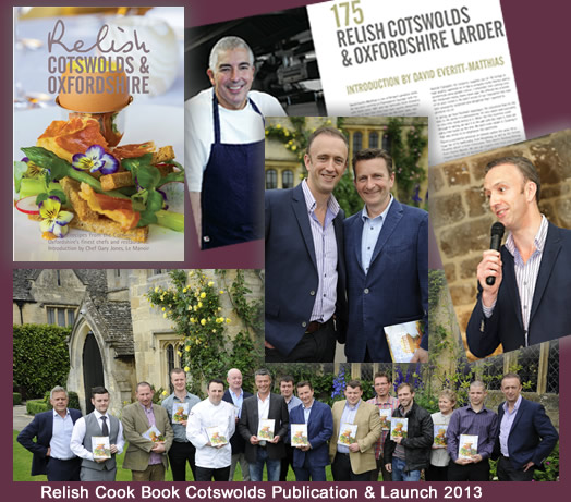 Relish Cotswolds & Oxfordshire Cook Book Co-Publisher & Launch 2013