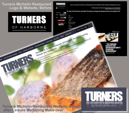 Turners Michelin Restaurant Marketing make-over and website